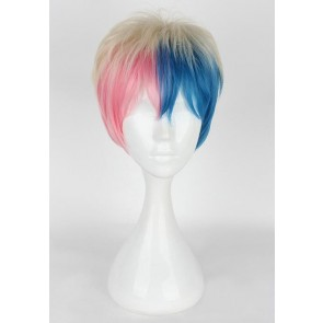 30cm Suicide Squad Harley Quinn Male Version Straight Cosplay Wig