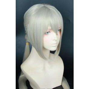 Grey 50cm Fate/Grand Order Bedivere Cosplay Wig