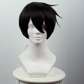 Black 45cm Akashic Records of Bastard Magic Instructor Glenn Radars Cosplay Wig