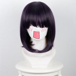Black Purple 35cm Scum's Wish Kuzu no Honkai Hanabi Yasuraoka Cosplay Wig