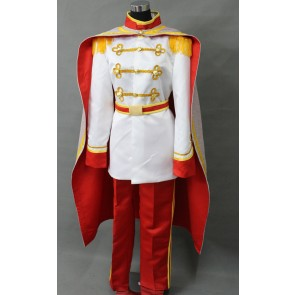 Cinderella Prince Charming Cosplay Costume - White Edition