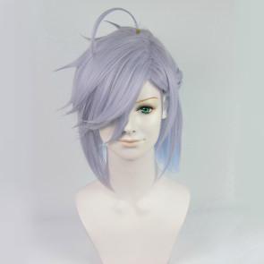 Blue 30cm Bakumatsu Rock Soji Okita Cosplay Wig