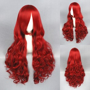 Red 80cm The Little Mermaid Princess Ariel Cosplay Wig