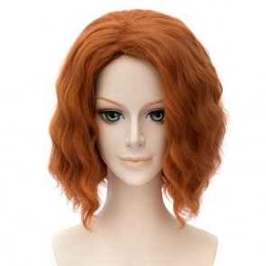 Orange 30cm The Avengers: Age of Ultron Black Widow Natasha Romanoff Cosplay Wig