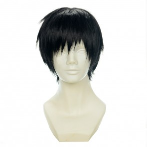 Black 30cm Yuri!!! on Ice Yuri Katsuki Cosplay Wig