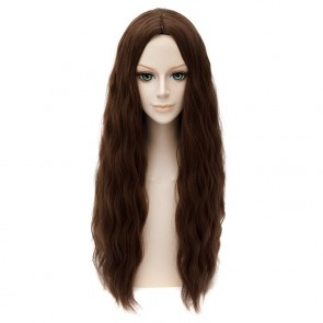 Dark Brown 65cm The Avengers: Age of Ultron Wanda Maximoff Scarlet Witch Cosplay Wig