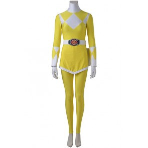 Power Rangers Trini/Yellow Ranger Cosplay Costume