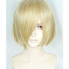 Gold 30cm Yuri!!! on Ice Yuri Plisetsky Cosplay Wig