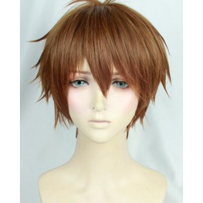 Brown 30cm Yuri!!! on Ice Guang Hong Ji Cosplay Wig