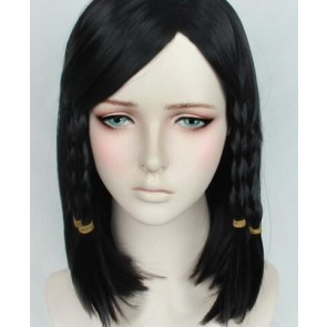 Black 40cm Overwatch Pharah Cosplay Wig