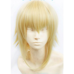 Gold BlazBlue Jin Kisaragi Cosplay Wig