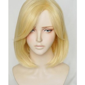 Gold 40cm Overwatch Mercy Angela Ziegler Cosplay Wig