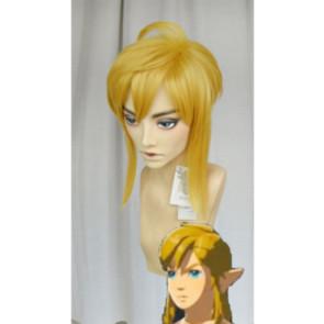 Yellow 40cm The Legend of Zelda: Breath of the Wild Link Cosplay Wig