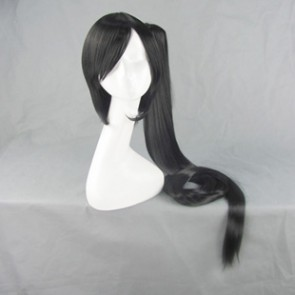 Black BlazBlue Litchi Faye-Ling Cosplay Wig