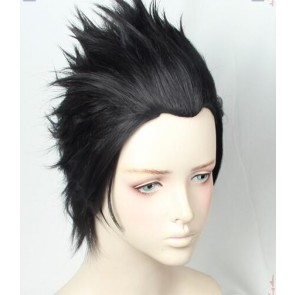 Black 30cm Overwatch Genji Cosplay Wig