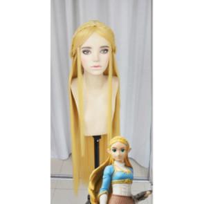 Yellow 100cm The Legend of Zelda: Breath of the Wild Princess Zelda Cosplay Wig