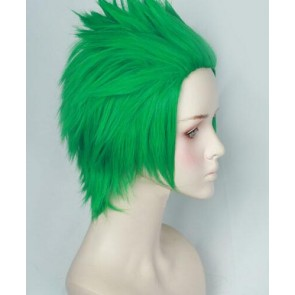 Green 30cm Overwatch Genji Cosplay Wig
