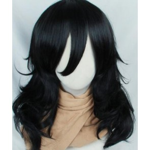 Black 50cm My Hero Academia Shota Aizawa Eraser Head Cosplay Wig