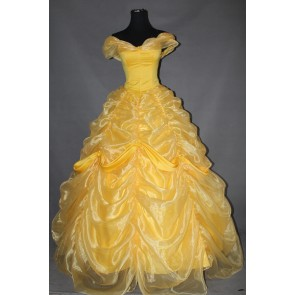 Beauty and the Beast Princess Belle Dress Cosplay Costume - A