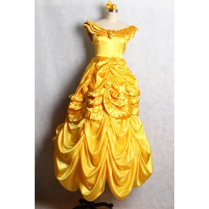 Beauty and the Beast Belle Dress Cosplay Costume V2