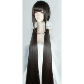 Dark Brown 120cm Danganronpa V3: Killing Harmony Maki Harukawa Cosplay Wig