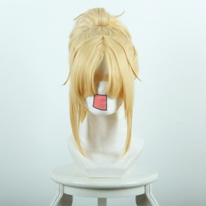 Gold 40cm Fate/Apocrypha Mordred Cosplay Wig