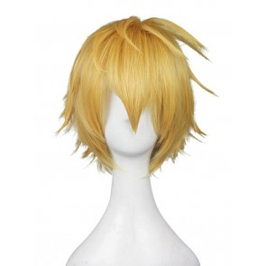 Gold 35cm God Eater Burst Cosplay Julius Visconti Cosplay Wig