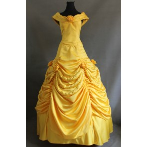 Beauty and the Beast Princess Belle Dress Cosplay Costume - C