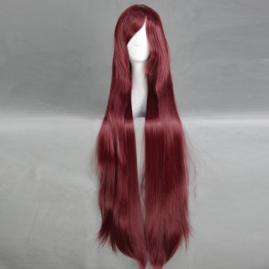 Red 100cm Neon Genesis Evangelion Mari Illustrious Makinami Cosplay Wig