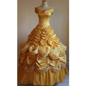 Beauty and the Beast Princess Belle Dress Cosplay Costume - D