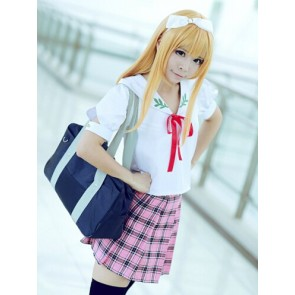 "The ""Hentai"" Prince and the Stony Cat. Azusa Azuki School Uniform Cosplay Costume"