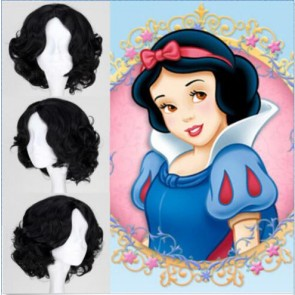 Black 30cm Princess Snow White Cosplay Wig