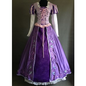 Tangled Rapunzel Princess Cosplay Costume Embroidery Edtion