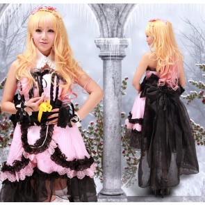 Macross Frontier Sheryl Nome Pink & Black Lolita Dress