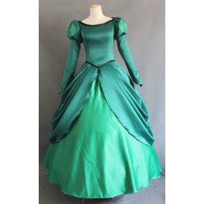 The Little Mermaid Princess Ariel Green Dress Cosplay Costume