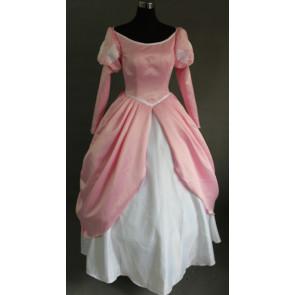 The Little Mermaid Princess Ariel Pink Dress Cosplay Costume