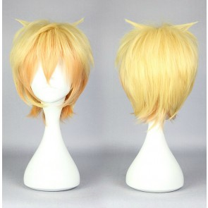 Golden 30cm Cute High Earth Defense Club Love! Yumoto Hakone Cosplay Wig