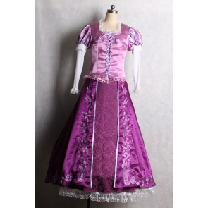 Tangled Rapunzel Princess Purple Cosplay Dress