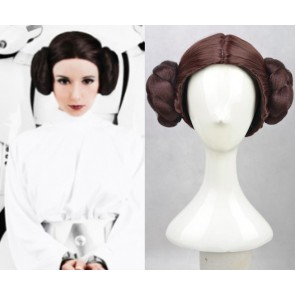 Brown Star Wars Princess Leia Cosplay Wig