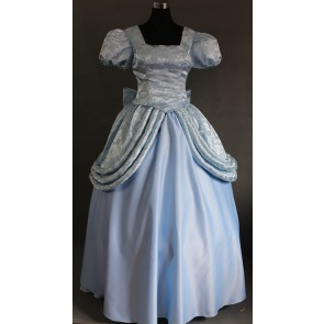 Cinderella Princess Dress Cosplay Costume - Light Blue Edition