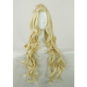 Golden 80cm ZONE-00 Hime Cosplay Wig