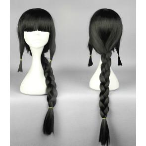 Black 75cm Kantai Collection Kitakami Cosplay Wig