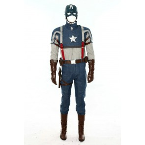 Deluxe Captain America: The First Avenger Cosplay Costume