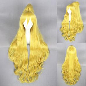 Yellow 100cm Orenchi no Furo Jijo Wakasa Cosplay Wig