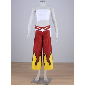 Fairy Tail Erza Scarlet Red Flame Cosplay Costume