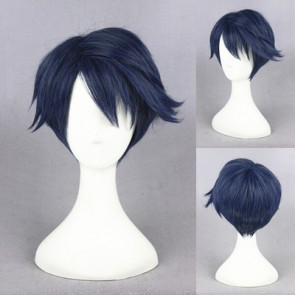 Blue 30cm Monthly Girls' Nozaki-kun Yu Kashima Cosplay Wig