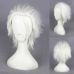 White 30cm Laughing Under the Clouds Shirasu Kinjo Cosplay Wig