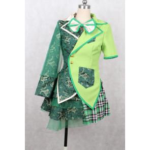 Momoiro Clover Z Momoka Ariyasu Green Cosplay Costume