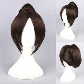 Brown 40cm Attack on Titan Hange Zoe Cosplay Wig