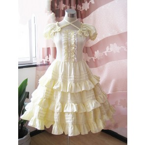 Yellow Short Sleeves Ruffle Sweet Lolita Dress